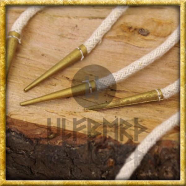 Nestelbänder mit Messingspitzen - 35cm