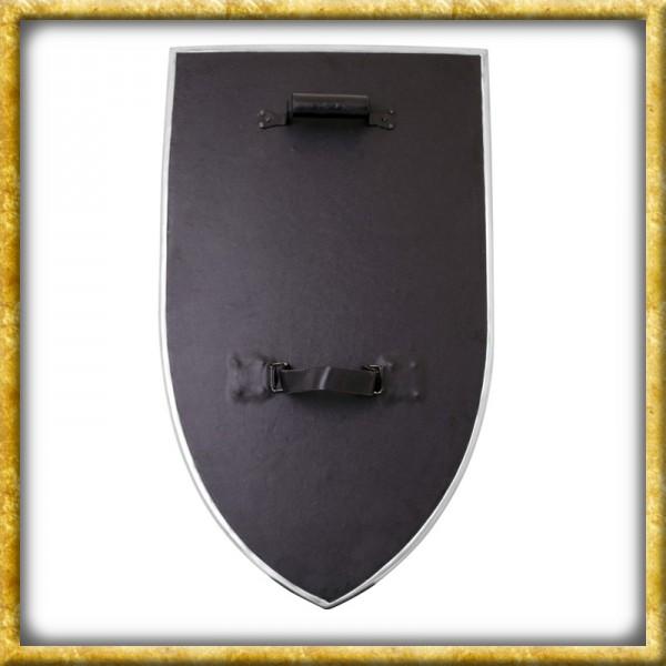 Wappenschild aus Holz mit Stahlbeschlägen