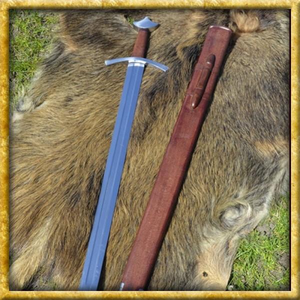 Hochmittelalter Ritterschwert - Mit Lederscheide