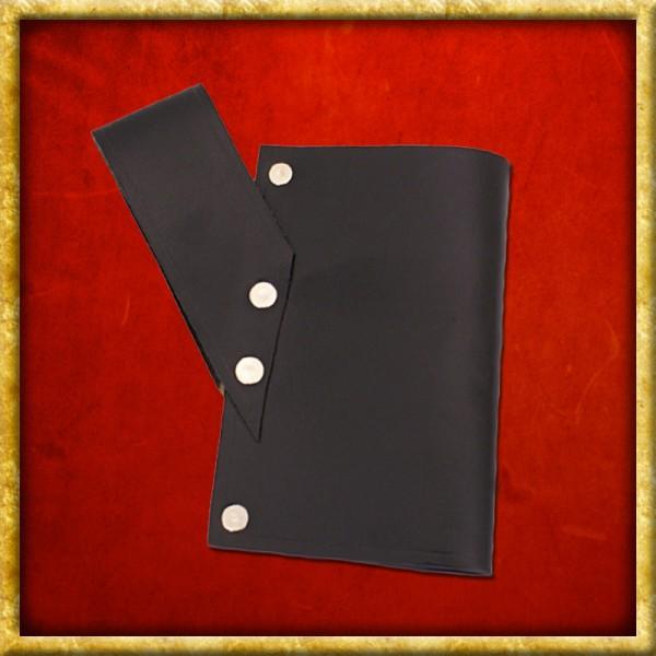 Schwertgürtelhalter aus schwarzem Leder
