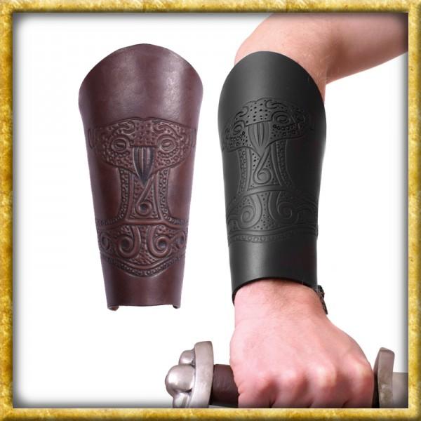 Armstulpe mit geprägtem Thorshammer - Braun oder Schwarz