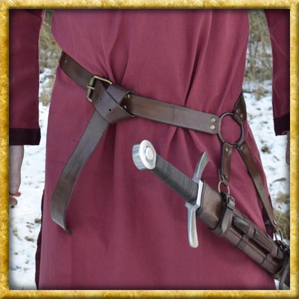 Mittelalter Schwertgürtel - Braun oder Schwarz
