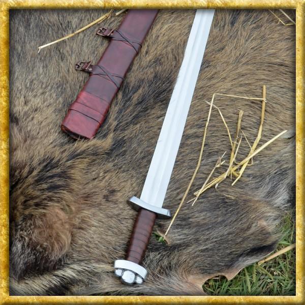 Frühes Wikingerschwert Godfred - Mit Lederscheide