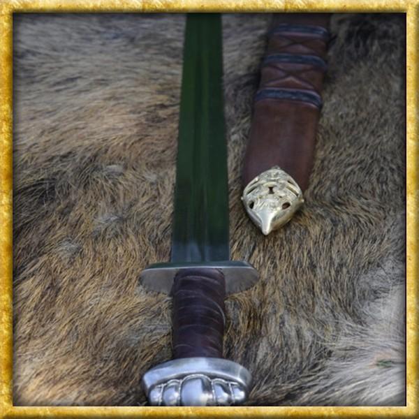 Wikingerschwert mit Scheide für Schaukampf