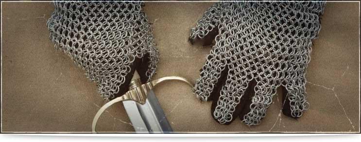 Kettenrüstungen für Arme und Hände   Waffenmeister