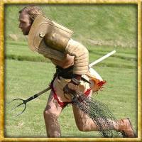 Schulterschirm der Gladiatoren Galerus - Messing
