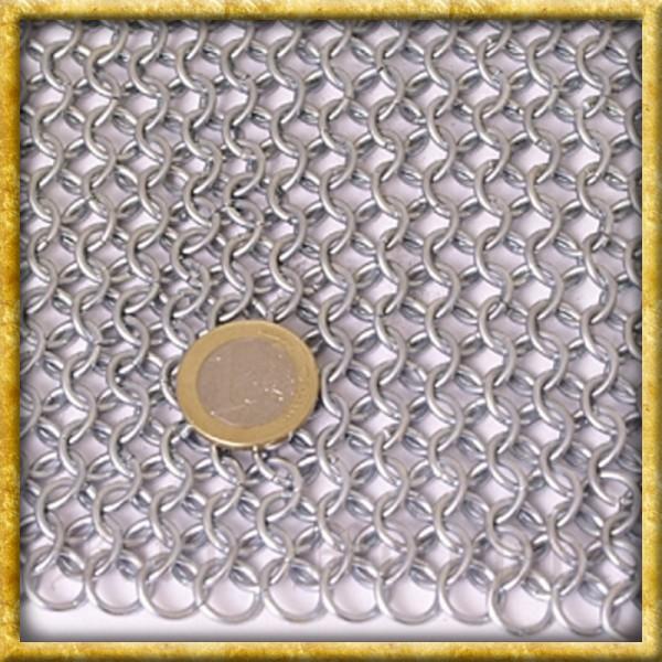 Verzinkte Kettenhaube Quadratischer Ausschnitt - Unvernieteter Stahl