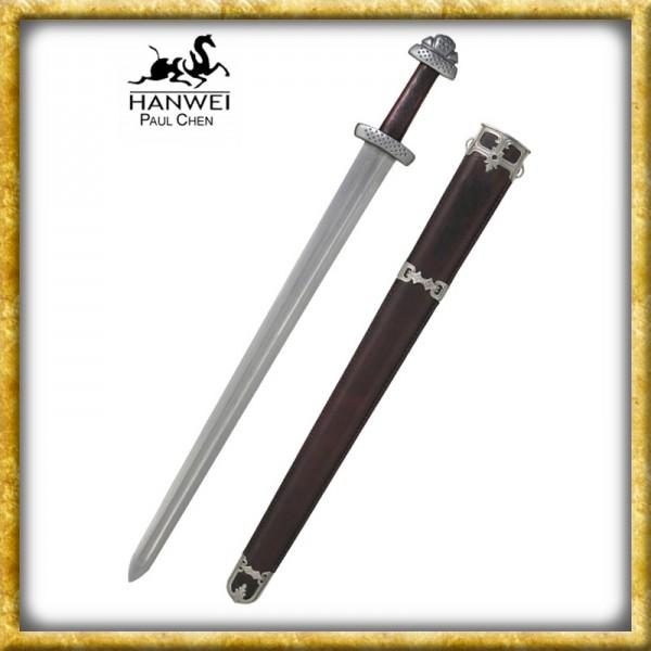 Wikinger Schwert Trondheim Damast - Geschliffen