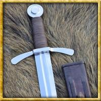 Kreuzritter Schwert mit Scheibenknauf