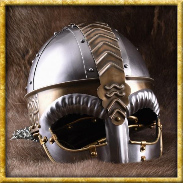 Wikinger Brillenhelm Beowulf mit Kettenbrünne