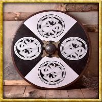 Wikinger Rundschild aus Holz mit Greiftier