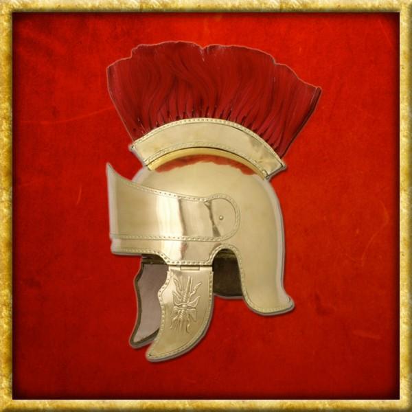 Attischer Helm Messing - Haarbusch