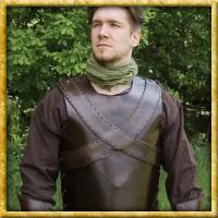 Lederrüstung mit gekreuzten Bändern
