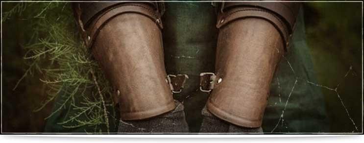 Lederrüstungen für Arme und Hände   Waffenmeister