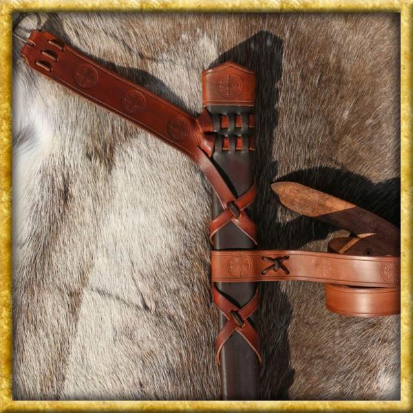 Schwertscheide Roland aus Leder - Nach Mass