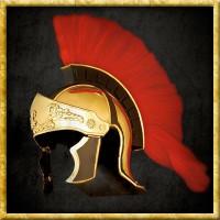 Griechisch/Römischer Helm mit Kamm - Rot
