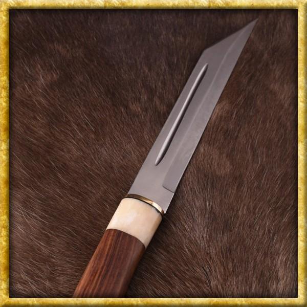 Skramasax mit Holz und Knochengriff