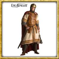 LARP König Lederrüstung mit Untergewand