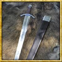 Mittelalterliches Breitschwert mit Scheide