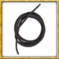Vierkantriemen aus Leder - Schwarz