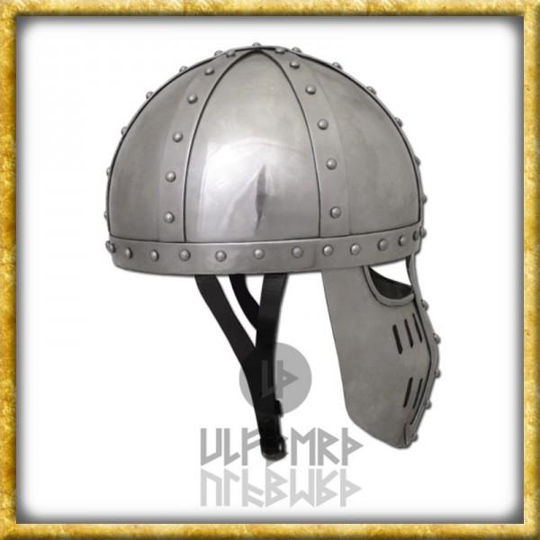 Hochmittelalter Spangenhelm mit Gesichtsplatte