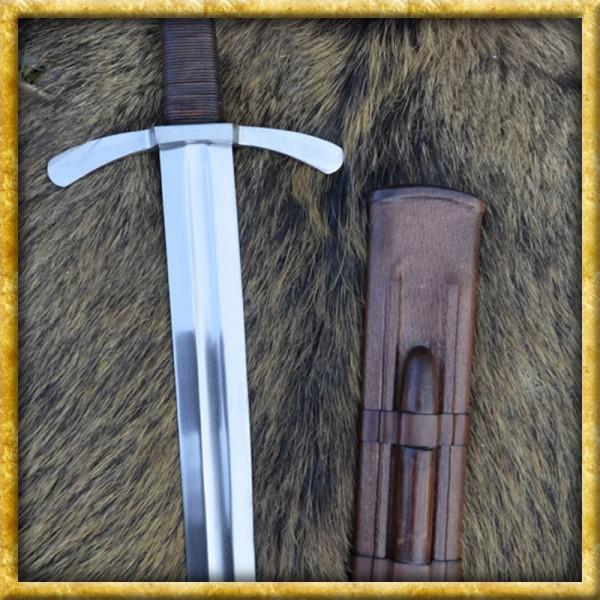 Kreuzritter Schwert mit Scheibenknauf für Schaukampf