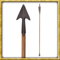 Mittelalter Pfeil mit kleinem Jagdbodkin - 30 Zoll