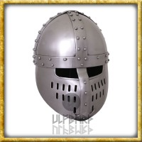 Normannischer Spangenhelm mit Gesichtsplatte