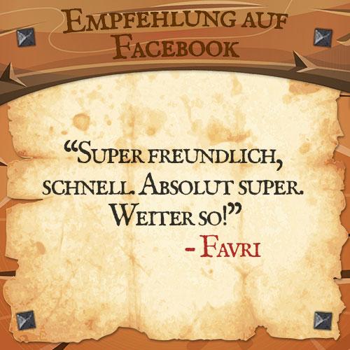 Facebook Bewertung Favri Drachenhort