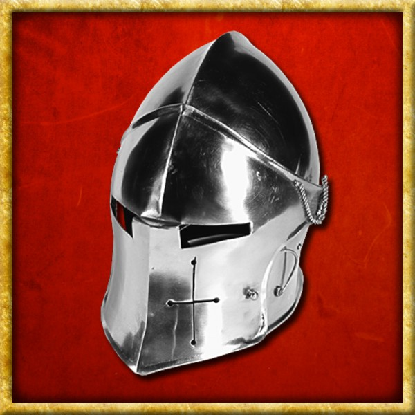 Helm - Visored Barbuta