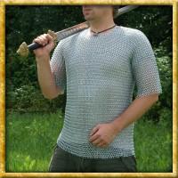 Verzinktes Kurzarm Kettenhemd - Unvernieteter Stahl