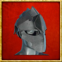 Lederhelm Assassin - Schwarz