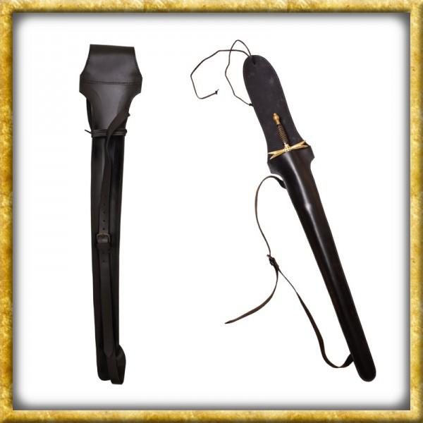 Schwerttasche - Schwarzes Leder