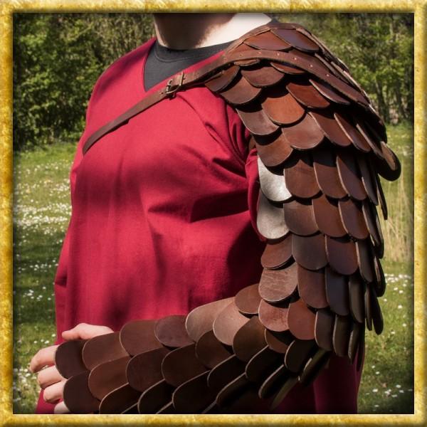 Gladiatoren Armschutz aus Lederschuppen