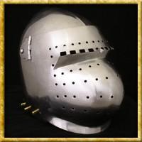 Beckenhaube mit Visier - 14. Jahrhundert
