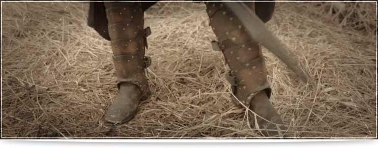 Lederrüstungen für Beine und Füsse | Waffenmeister