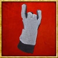 Fingerhandschuhe mit Kettengeflecht - Unvernieteter Stahl