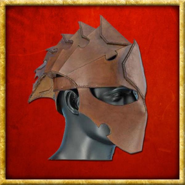 Lederhelm Assassin - Braun