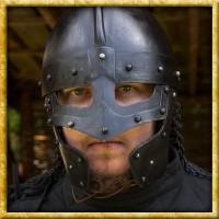 Brünierter Wikinger Raven Helm
