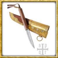 Kleines Wikinger Messer aus Gotland - Damast