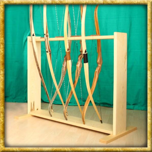 Bogenständer aus Holz für 8 Bögen