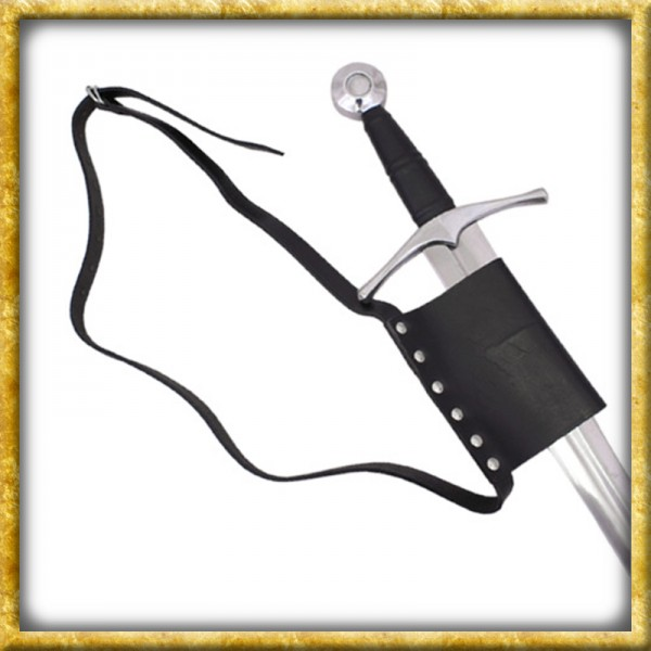 Gürtel aus Leder mit Schwerthalterung - Schwarz
