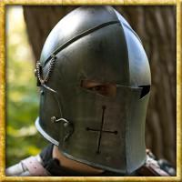 Helm Visored Barbuta Epic Dark