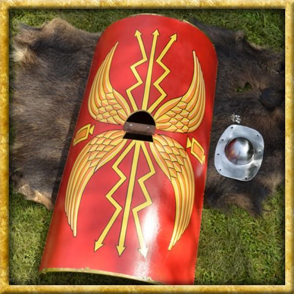 Römisches Scutum mit Umbo aus Stahl Legionär