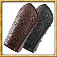 Armschützer aus Leder mit Prägung - Dunkelbraun oder Schwarz