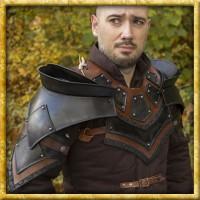 Rogue Schulterplatten und Kragen aus Leder