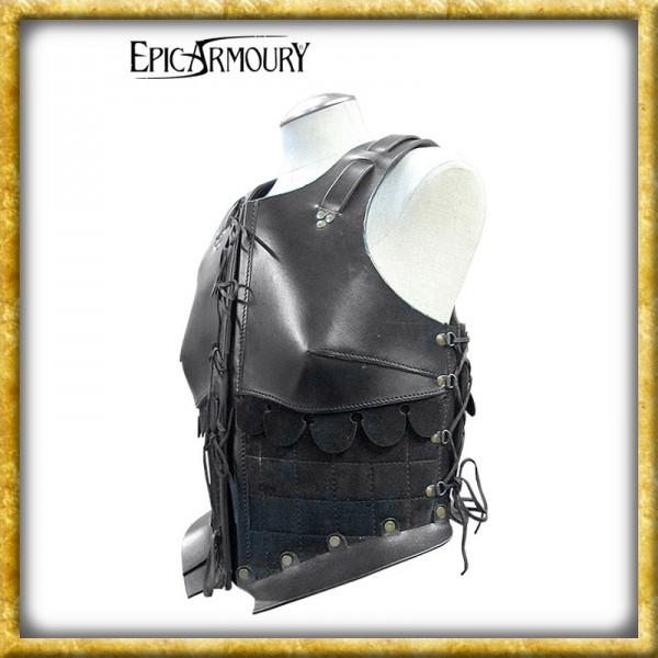 Frauenrüstung aus Leder - Schwarz
