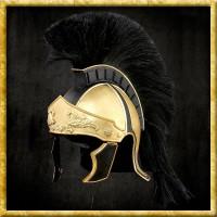 Griechisch/Römischer Helm mit Kamm - Schwarz