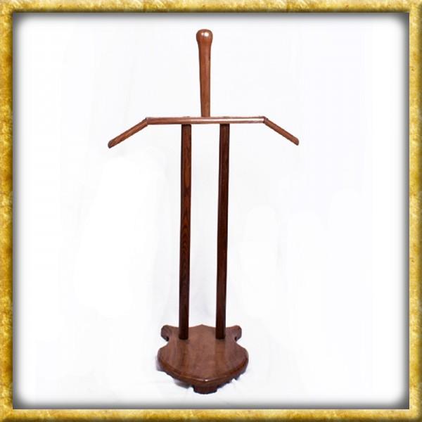 Holzständer für Rüstungen und Helm