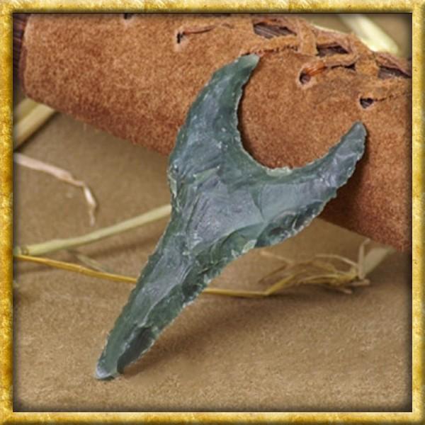 Pfeilspitze aus Stein - Sehnenschneider
